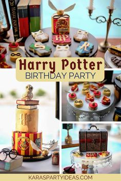Harry Potter Birthday Pool Party via Kara_s Party Ideas - KarasPartyIdeas.com