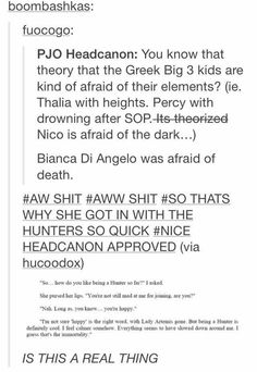 Being a Big Three kid is basically a curse you didn't ask for on top of the whole being a regular demigod curse.