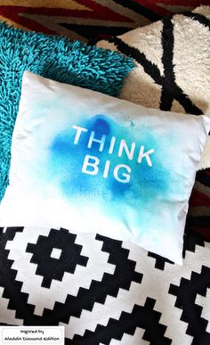 Pick your favorite girl power quote and put it on a pillow. All you need is spray dye and  sticker letters. It's a quick DIY craft, perfect for a birthday party craft.