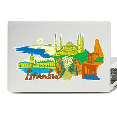 Istanbul Illustration Laptop Skin Sticker Laptop Stickers, Laptop Skin, Vinyl Decals, Istanbul, Illustration, Stuff To Buy, Accessories, Illustrations