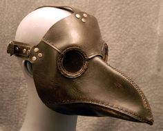 "Plague Doctor Mask - the theory was that the plague was caused by smell, so the ""beak"" would be filled with flowers and herbs"