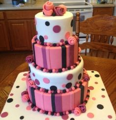 Stacked fondant cake By cakiemommie on CakeCentral.com