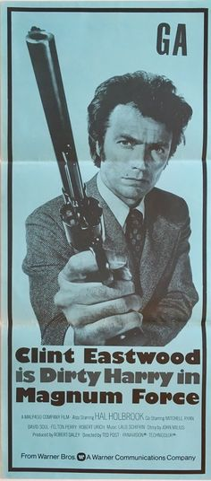 magnum force dirty harry new zealand daybill poster from 1973 featuring clint eastwood, extremely rare and available to purchase from our collection. Magnum Force, The Fold Line, Title Card, Film Studio, The Empire Strikes Back, Easy Rider, Original Movie, Clint Eastwood, Film Posters