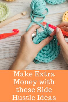 Looking for an extra source of income, a side hustle? Here are 7 side hustle ideas to help you make a little more money on the side. Make And Sell, How To Make Money, Tag Blanket, Pinterest Crafts, Cheap Kids Clothes, Making Extra Cash, Craft Items, Extra Money, Crafts To Sell