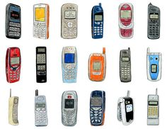 18 mobile phone drawings. by Christine Berrie Illustration, via Flickr