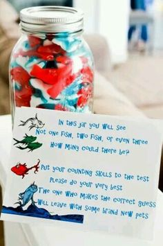 Candy Crate : Thing Thing Maybe a dr Seuss themed baby shower idea? Candy Crate : Thing Thing Maybe a dr Seuss themed baby shower idea? 2nd Baby Showers, Baby Shower Games, Baby Boy Shower, Baby Shower Book Theme, Dr Seuss Baby Shower Ideas, Baby Shower Ideas On A Budget, Dr Seuss Party Ideas, Baby Shower Activities, Ideas Party