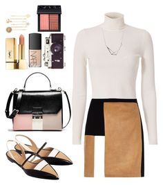 """Fall fashion"" by kamileigh2006 ❤ liked on Polyvore featuring River Island, A.L.C., De Siena, NARS Cosmetics and PUR"