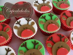 Excellent Christmas sweets recipes are offered on our website. Christmas Themed Cake, Christmas Cupcake Toppers, Reindeer Cupcakes, Christmas Topper, Christmas Cake Decorations, Christmas Cupcakes, Christmas Sweets, Holiday Cakes, Christmas Cooking