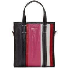 Balenciaga Multicolor XS Bazar Tote (9553480 PYG) ❤ liked on Polyvore featuring bags, handbags, tote bags, multicolor, stripe tote bag, zip tote bag, handbags totes, striped tote and stripe tote