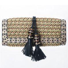 Bolsos mimbre: Jimmy Choo, elegante #look #accsesorios #moda