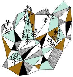 geometric mountain by depeapa, via Flickr