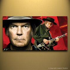 NEIL YOUNG Original Painting poster Artist by AugustStudiosOnline