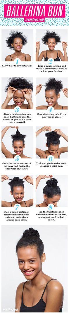 Natural Hair How-To: Ballerina Bun  - Seventeen.com