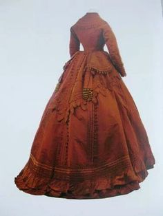 1870 Worth ball gown