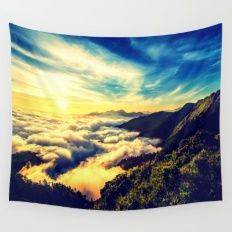 Mountains. Wall Tapestry