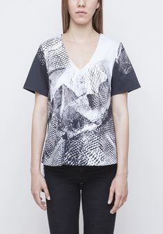 Image of Printed Top Spring Summer 2016, Printed, Image, Tops, Women, Fashion, Moda, Fashion Styles, Shell Tops