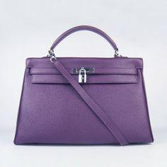 c335e452020 Hermes Kelly 35Cm Togo Leather Bag Purple Silver Hardware Hermes Bags,  Hermes Handbags, Hermes