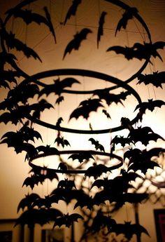DIY Halloween bat chandelier Decorations