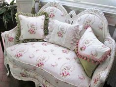 Shabby chic vintage couch
