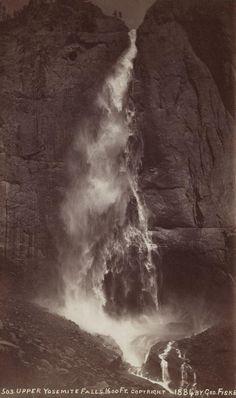 GEORGE FISKE  1835 - 1918 Instantaneous View of Upper Yosemite Fall. 1600 feet. 1883