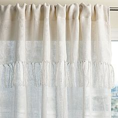Fringed Linen Window Panel – Ivory #serenaandlily