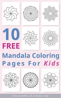 Free printable mandala coloring pages for kids are the perfect free kid's craft project and fun indoor activity for a rainy day. Coloring Pages For Boys, Printable Adult Coloring Pages, Flower Coloring Pages, Free Printable Worksheets, Mandala Coloring Pages, Free Coloring Pages, Free Printables, Kids Coloring, Diy Crafts For Tweens