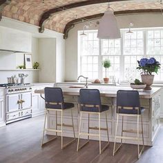 """213 Likes, 4 Comments - lawson-fenning (@lawsonfenning) on Instagram: """"Swoon worth kitchen by @meglonerganinteriors with our Elysian Counterstools. #lawsonfenning…"""""""