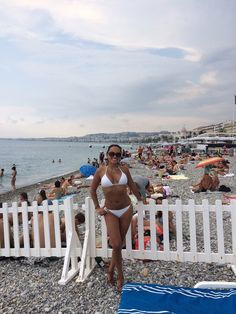 Marcela hits the beach in France