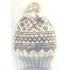 Lue i alpakka og silke, dusk av alpakka pels Dusk, Knitted Hats, Beanie, Knitting, Design, Fashion, Creative, Moda, Tricot