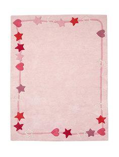 Mädchenteppich aus Baumwolle ROSA