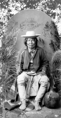 Kas-tziden (aka Nana) - Chiricahua Apache - 1884