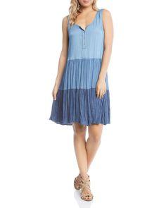 89adcb375331 Karen Kane Tiered Chambray Dress Women - Bloomingdale s