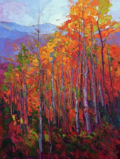 Aspens Painting - Aspen Flame by Erin Hanson