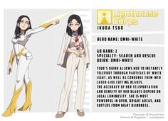 Ikuda Tsuo: Omni-White by NexusYuber on DeviantArt Anime Oc, Oc Manga, Boku No Academia, Buko No Hero Academia, My Hero Academia Manga, My Hero Academia Costume, Hero Academia Characters, Super Hero Outfits, Super Hero Costumes