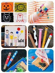 6 manualidades infantiles con palitos de helado