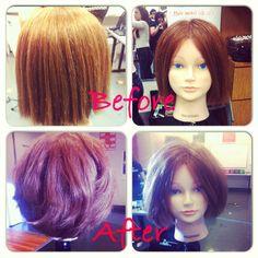 Fourth hair cut round layers
