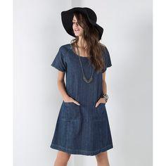 T-SHIRT DRESS JEANS - 151105803 - Shoulder