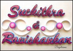 DAYDREAMS: Wedding plates with quilling.