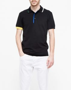Contrast Tipping Shirt