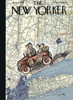 The New Yorker - Saturday, August 7, 1937 - Issue # 651 - Vol. 13 - N° 25 - Cover by : William Steig