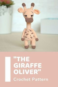 Chain Stitch, Slip Stitch, Easy Crochet Patterns, Crochet Stitches, Giraffe Toy, Giraffe Crochet, Single Crochet Stitch, Half Double Crochet, Stuffed Toys Patterns