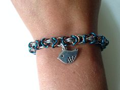 Bluebird Chainmaille Bracelet on Etsy, $35.00 CAD