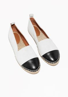 & Other Stories   Leather And Suede Espadrilles