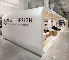Spazio Design showroom accommodates a variety of dedicated areas for different displays: from pieces at bespoke design furniture to tiles, wall coverings, home accessories. Covering over 400 sqm of area, the showroom has been organised into two main thematic wings.