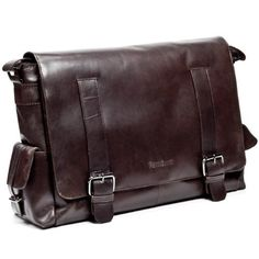 490787a4a1 FEYNSINN grand sac bandoulière ASHTON - sacoche pour ordinateur portable en  cuir - besace homme retro