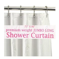 amazoncom carnation home fashions jumbo long vinyl shower curtain liner