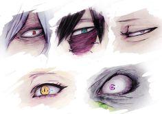 Boku No Hero Academia || Shigaraki Tomura || Dabi || Overhaul || Himiko Toga || Shuuichi Iguchi || Eyes