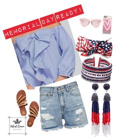 Red, White & blue ready in this outfit