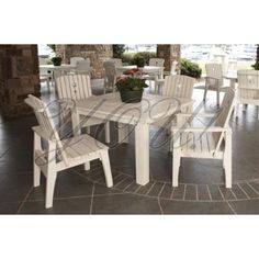 Outdoor Dining Table set at YOU! Boutiques #youboutiques #white #garden #patio #dining #chair #table