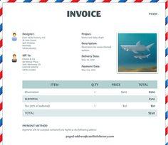 free invoice template for designers & illustrators | website, Invoice templates